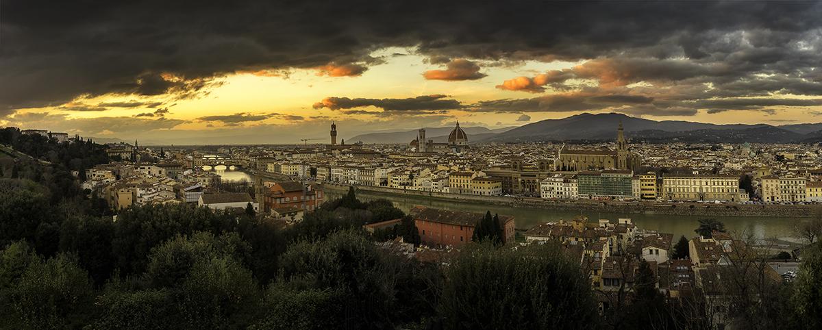 panorama florence italy